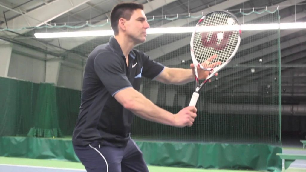 Forehand Volley Ready Position